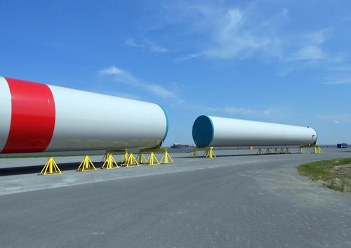 Röhren für Windkraftanlagen