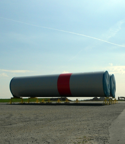 Stahlrohr für Windkraftanlagen offshore